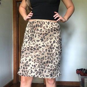 Vintage Leopard Midi Skirt